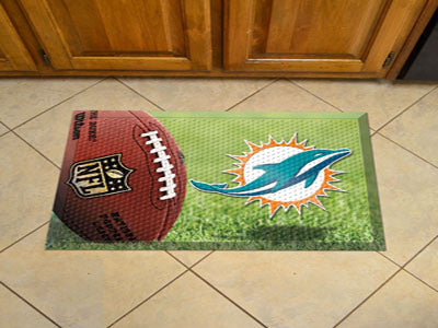 The Miami Dolphins Ball Scraper Mat - FanMats 18968