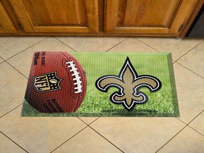 The New Orleans Saints Ball Scraper Mat - FanMats 18974
