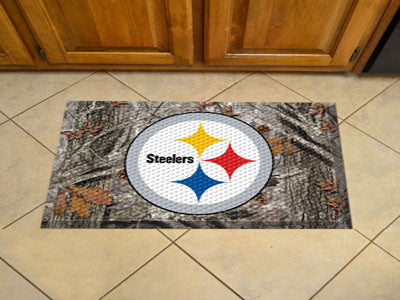 The Pittsburgh Steelers Camo Scraper Mat - FanMats 18989