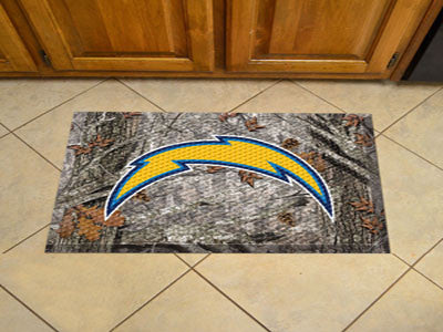 The San Diego Chargers Camo Scraper Mat - FanMats 18991