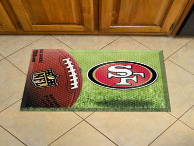 The San Francisco 49ers Ball Scraper Mat - FanMats 18992