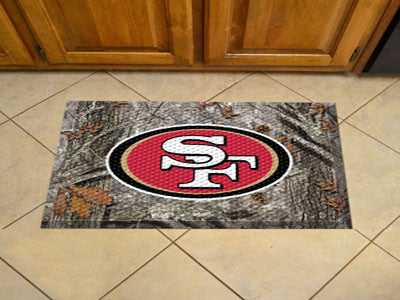 The San Francisco 49ers Camo Scraper Mat - FanMats 18993