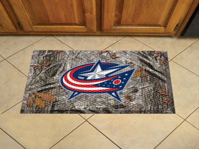 The Columbus Blue Jackets Camo Scraper Mat - FanMats 19139