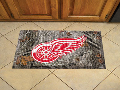The Detroit Red Wings Camo Scraper Mat - FanMats 19143