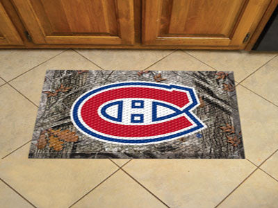 The Montreal Canadiens Camo Scraper Mat - FanMats 19153