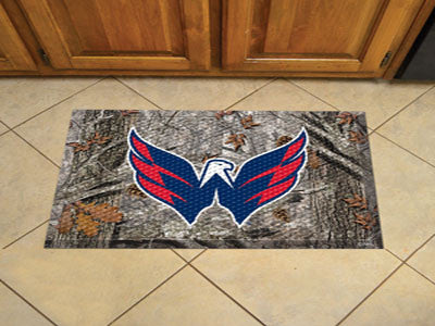 The Washington Capitals Camo Scraper Mat - FanMats 19181