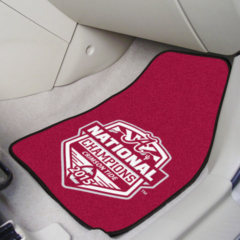 2-pc Printed Carpet Car Mat Set -University of Alabama Crimson Tide 2015-16 College Football Champions