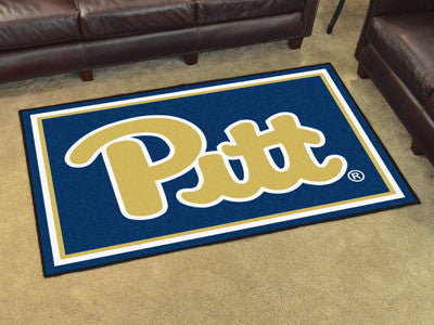 The Pitt Panthers Area Rug Size 5x8, Fan Mats 19665