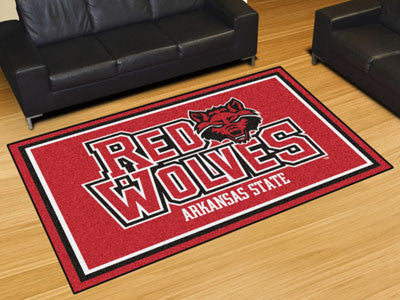 The ASU Red Wolves Area Rug Size 5x8, Fan Mats 20114