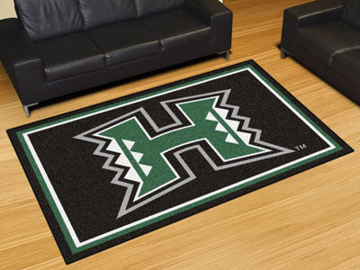 The UH Rainbow Warriors Area Rug Size 5x8, Fan Mats 20181