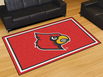 The UofL Cardinals Area Rug Size 5x8, Fan Mats 20203