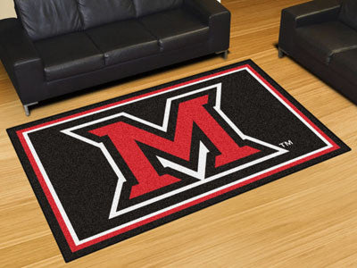 The Miami Redhawks Area Rug Size 5x8, Fan Mats 20211