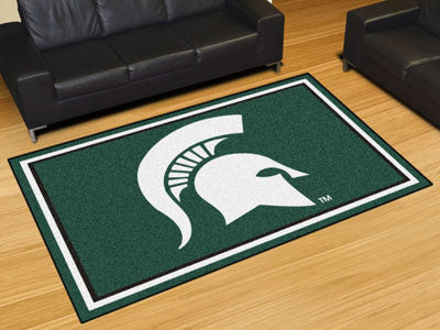 The MSU Spartans Area Rug Size 5x8, Fan Mats 20213