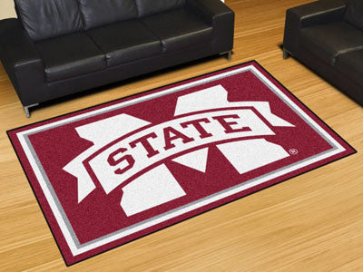 The MSU Bulldogs Area Rug Size 5x8, Fan Mats 20218
