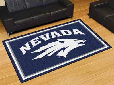 The UNR Wolf Pack Area Rug Size 5x8, Fan Mats 20282