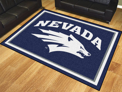 The UNR Wolf Pack 8x10 Area Rug - Fan Mats 20283