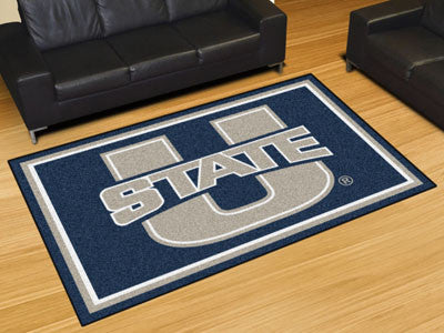 The USU Aggies Area Rug Size 5x8, Fan Mats 20287
