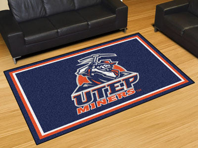 The UTEP Miners Area Rug Size 5x8, Fan Mats 20290