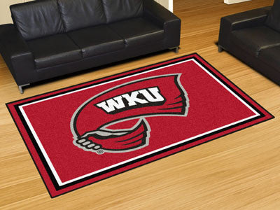 The WKU Hilltoppers Area Rug Size 5x8, Fan Mats 20308
