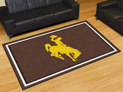 The Wyoming Cowboys Area Rug Size 5x8, Fan Mats 20317