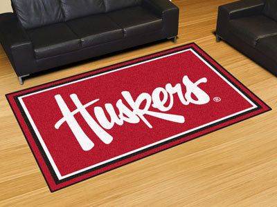 The Nebraska Cornhuskers Area Rug Size 5x8, Fan Mats 20674