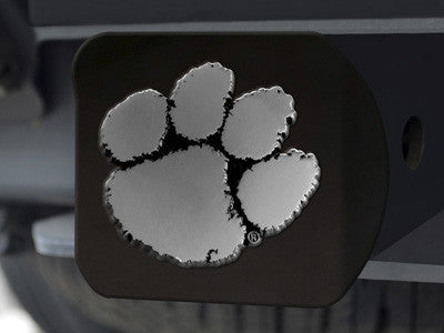 The Clemson  Tigers Black Trailer Hitch Cover - FanMats 21027