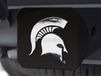 The MSU Spartans Black Trailer Hitch Cover - FanMats 21039