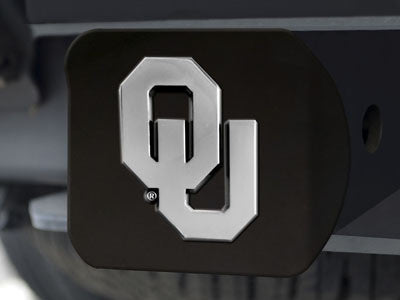 The OU Sooners Black Trailer Hitch Cover - FanMats 21044