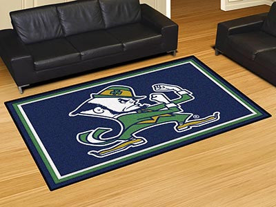 The ND Fighting Irish Area Leprechaun Logo Rug Size 5x8, Fan Mats 22268