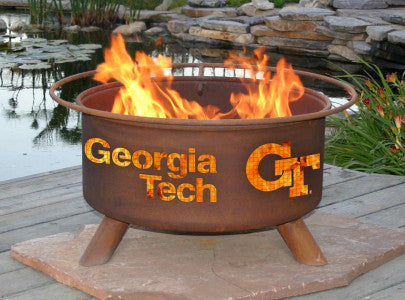 Georgia Tech Yellow Jackets Fire Pit Grill