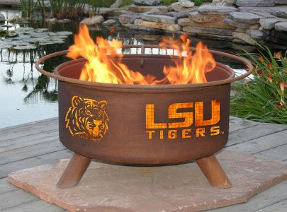 LSU Tigers Fire Pit with Louisiana Grill