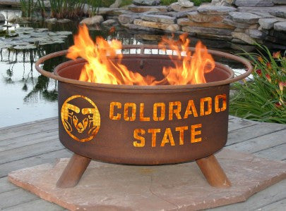 Fire Pit With Grill - Colorado State Rams