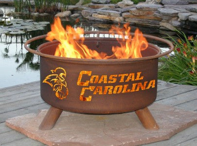 The Coastal Carolina Chanticleers Fire Pit with Grill by Patina Products