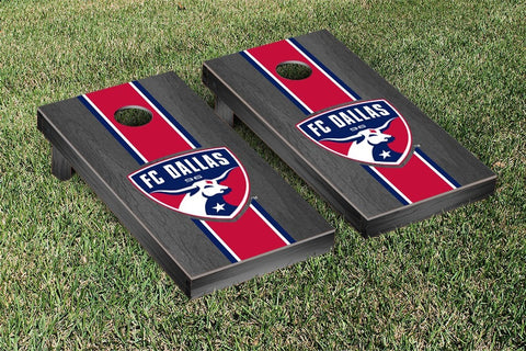FC Dallas Onyx Stained Stripe Version Cornhole Game Set by Victory Tailgate