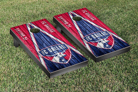 FC Dallas Weathered Triangle Version Cornhole Game Set by Victory Tailgate