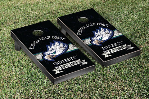 Florida Gulf Coast University FGCU Eagles Cornhole Boards and bags, Banner Vintage Version - Victory Tailgate 36595