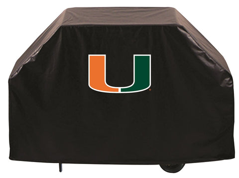 University of Miami Hurricanes 72 Inch Grill Cover