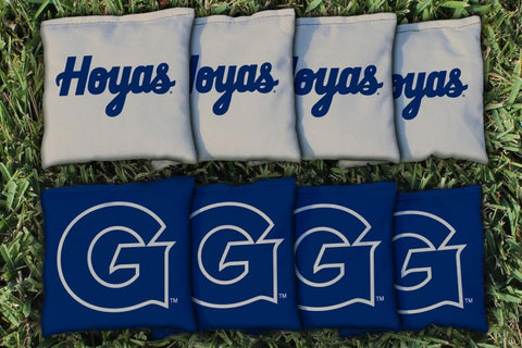 Georgetown Hoyas Corn Hole Bag Logo Set - corn filled