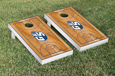 Georgia Southern Eagles Cornhole Game Set Basketball Court Version - Victory Tailgate 23087