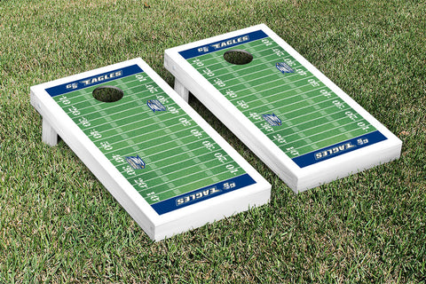 Georgia Southern Eagles Cornhole Game Set Football Field Version - Victory Tailgate 24730