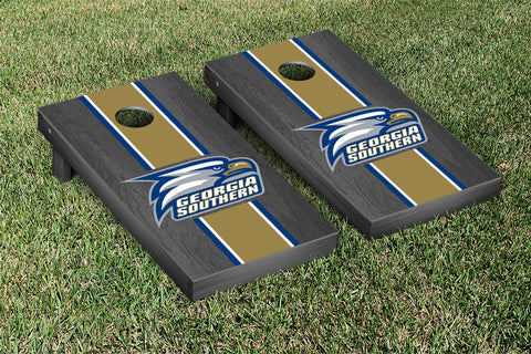 Georgia Southern Eagles Onyx Stained Stripe Version 1 Cornhole Set Victory Tailgate 23853