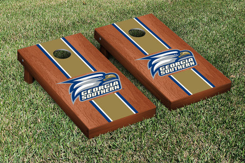 Georgia Southern Eagles Rosewood Stained Stripe Version 1 Cornhole Set Victory Tailgate 16084