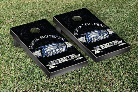 Georgia Southern Eagles Cornhole Boards and bags, Banner Vintage Version - Victory Tailgate 31079