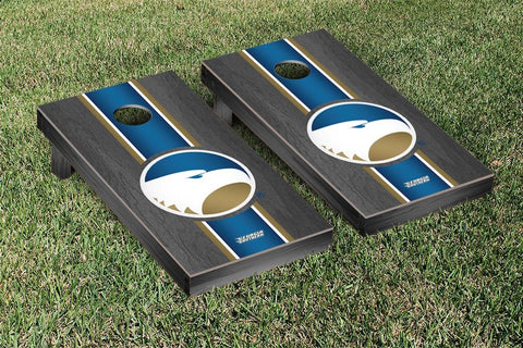 Georgia Southern Eagles Onyx Stained Stripe Version 2 Cornhole Set Victory Tailgate 31083