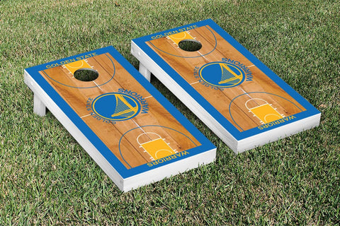 Golden State Warriors Cornhole Game Set Basketball Court Version - Victory Tailgate 28648