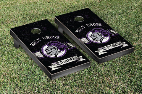 Holy Cross Crusaders Cornhole Boards and bags, Banner Vintage Version - Victory Tailgate 42303