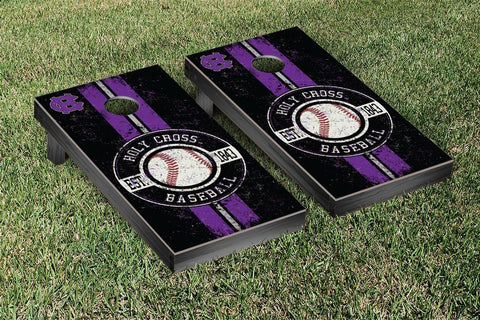 Holy Cross Crusaders Cornhole Game Set Baseball Vintage Version - Victory Tailgate 42304