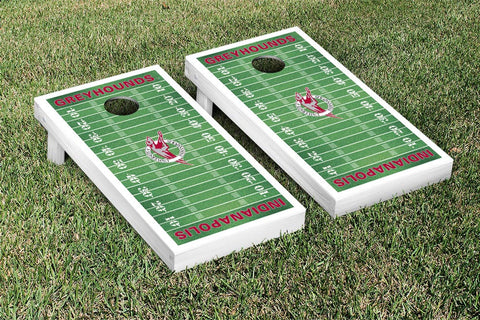 University of Indianapolis Greyhounds Cornhole Game Set Football Field Version - Victory Tailgate 24625