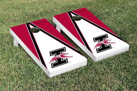University of Indianapolis Greyhounds Cornhole Game Set Triangle Wooden - Victory Tailgate 8154