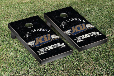 John Carroll Blue Streaks Cornhole Boards and bags, Banner Vintage Version - Victory Tailgate 34798